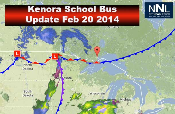 School Buses in the western part of Northwestern Ontario are not running today