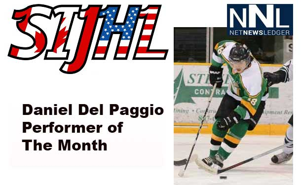 The Superior International Junior Hockey League announced Saturday that Daniel Del Paggio of the Thunder Bay North Stars has been named the Gongshow Gear Inc. performer of the month for January.