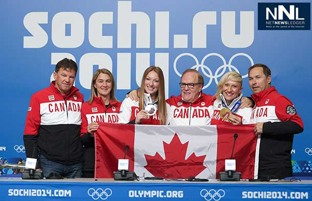 The Canadian Olympic Team will be led into the closing ceremonies by a pair of athletes.