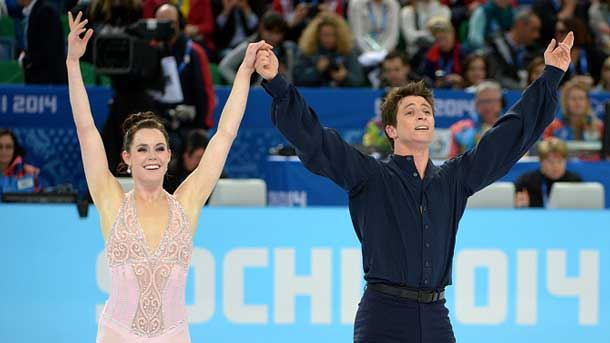 Tessa and Scott won the Silver Medal in Sochi.