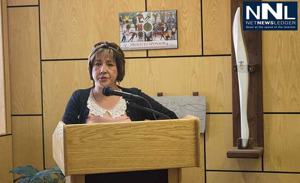 Ann Magiskan, Aboriginal Liaison for the City of Thunder Bay hosted today's proceedings at City Hall