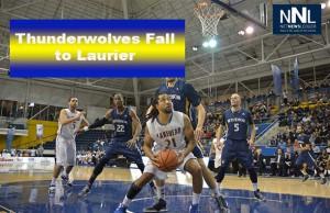The Thunderwolves Men's Basketball action