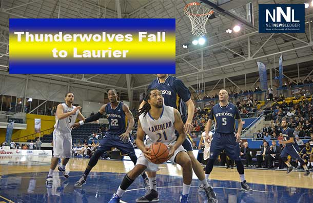The Thunderwolves fell a little short to Laurier in Men's Basketball action