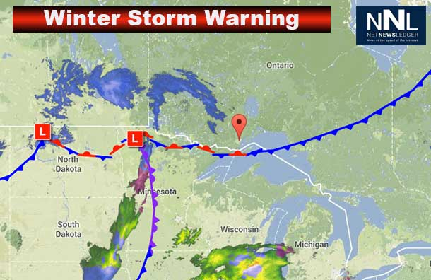 Environment Canada is predicting up to 30 cm of snow for Thunder Bay