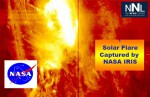 Strongest Solar Flare Captured by IRIS