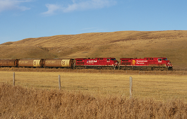 CP Grain Train on the Prairies.