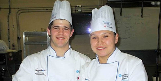 Canadore College Culinary Arts students Will Arnaud and Katrina Orr - Photo by Emma Williams