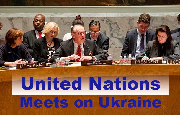 Deputy Secretary-General Jan Eliasson briefs Security Council on situation in Ukraine on 1 March 2014. UN Photo/M. Garten