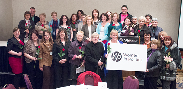 Women in Politics brought together women from across Canada and across political lines to share how to navigate the often stormy waters of political life.