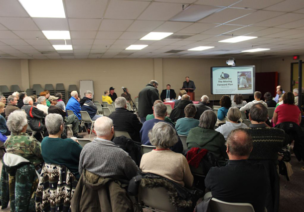 A full house of over sixty people attended the public meeting in Terrace Bay.
