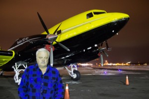 Frank Kelner and Cargo North's brand new bright yellow Basler BT-67