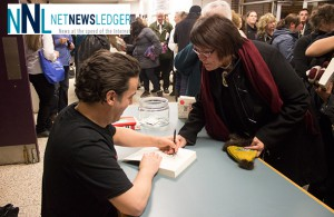 Joseph Boyden Book signing after a fantastic talk at Lakehead University