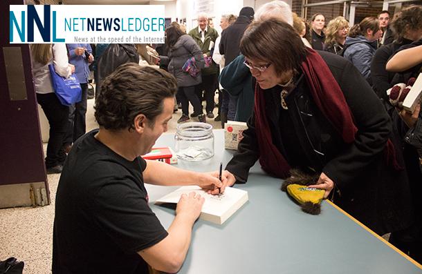 Joseph Boyden Book signing after a fantastic talk at Lakehead University