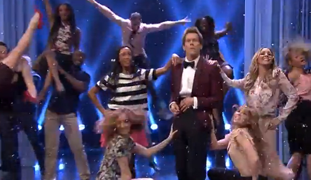 Dancing is 'BACK' at The Tonight Show thanks to iconic star Kevin Bacon.
