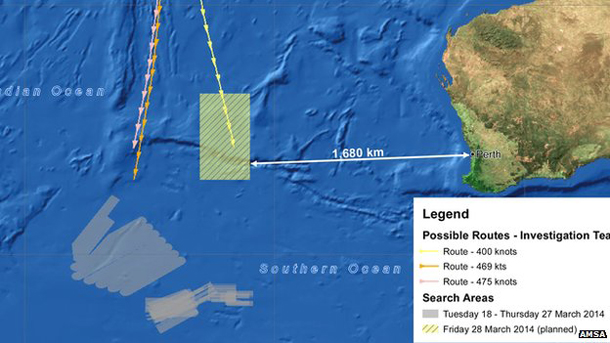 Search Teams are now searching a new area, in yellow, north-east of the previous zone, in grey