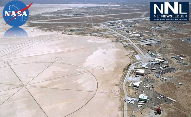 As of March 1, 2014, NASA's Dryden Flight Research Center along the northwest edge of Rogers Dry Lake at Edwards Air Force Base, Calif. is renamed in honor of former research test pilot and NASA astronaut Neil A. Armstrong, the first man to step onto the surface of the moon during the Apollo 11 mission in 1969. Image Credit: NASA