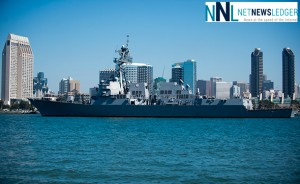 The Arleigh Burke-class guided missile destroyer USS Pinckney transits San Diego Bay Sept. 16, 2013. U.S. Navy photo by Mass Communication Specialist Seaman Todd C. Behrman