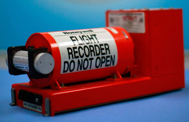 The so-called 'Black Box' is actually bright orange. The Flight Data Recorder is a key tool for post accident investigators.