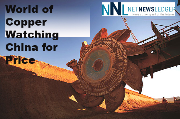 The price of copper is based in many ways on the demand from China