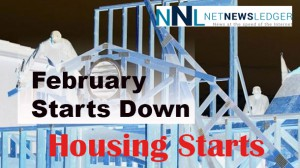February Housing starts were hit hard by the cold weather.