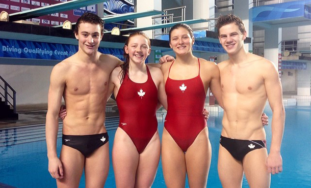 Thunder Bay Diver Molly Carlson - second from the left is keeping her Olympic Dream Alive.