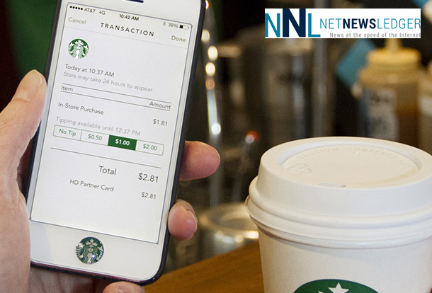 The new Starbucks App includes the option for digital tipping.
