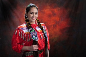 Janelle Golinowski, Mattagami First Nation is representing Mattagami First Nation at the Miss North Ontario Regional Canada Pageant 2014 in Sudbury on May 1 to 3. photo by Claude J Gagnon, Timmins Ontario.