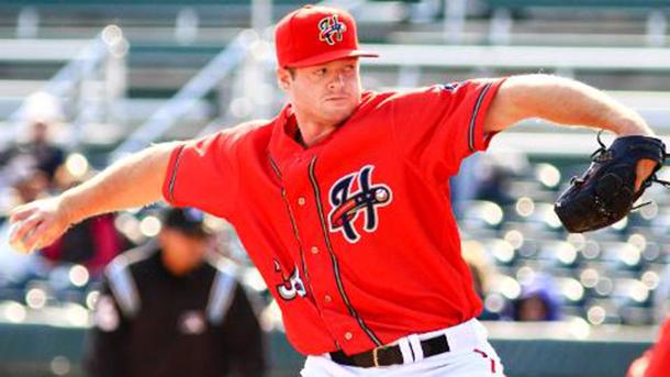 Aaron Barrett has made the climb to 'The Show'. Image courtesy of MLB.com