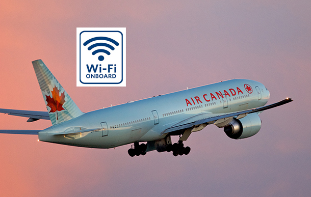 Air Canada wants to be the first Canadian carrier with onboard WiFi.