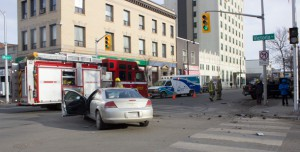 Motor Vehicle Accident at Victoria and May Street.