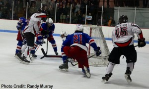 Cameron Jackson's bank-in goal 4:30 into overtime lifted the Fort Frances Lakers to a dramatic 4-3 victory over the Minnesota Iron Rangers Monday in game 6 of the Superior International Junior Hockey League Bill Salonen Cup final at a jam-packed Hoyt Lakes Arena.