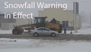 Environment Canada has issued a snowfall warning for Thunder Bay