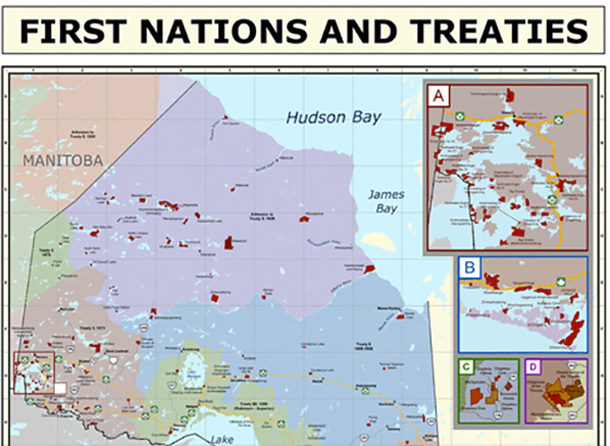Ontario is sending all schools a new Treaty Map of Ontario First Nations