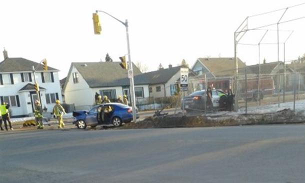 Accident at Arthur and Vickers has closed the intersection as Thunder Bay Police have closed the streets.