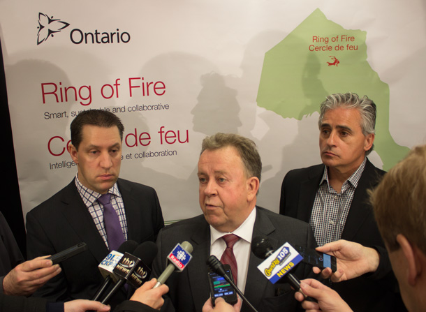 Minister Gravelle takes questions from the media.
