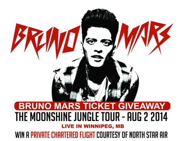 Bruno Mars Contest with North Star Air