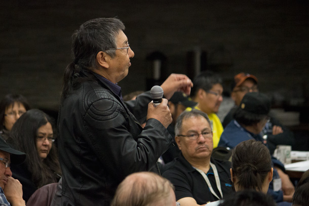Chief Beardy from Muskrat Dam First Nation participated in a very engaging discussion.