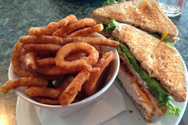 The tasty clubhouse sandwich at Daytona's.