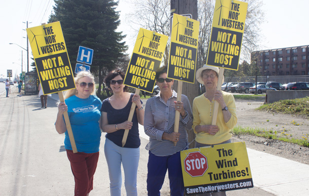 Friends of the NorWesters getting their message out at the Northern Leaders' Debate in Thunder Bay
