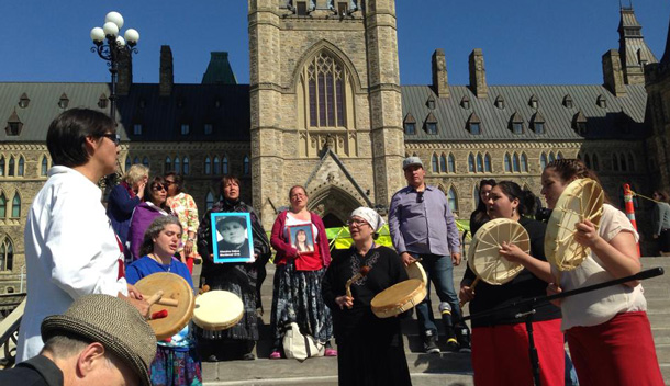 Honouring Murdered and Missing Aboriginal Women - Photo by Tannis Smith.