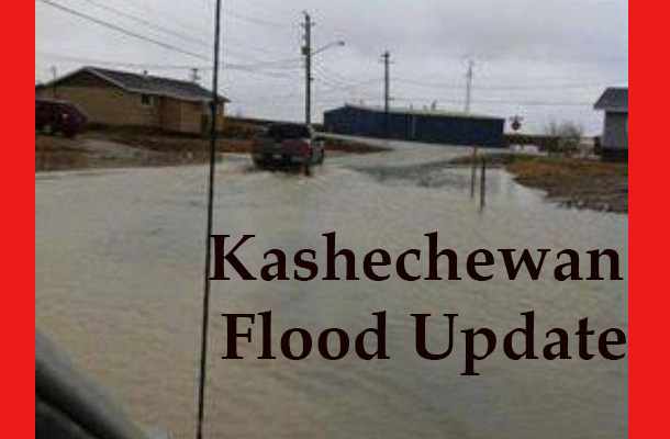 Flooding in Kashechewan is impacting the community.