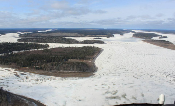 Ice Jam on Abitibi River