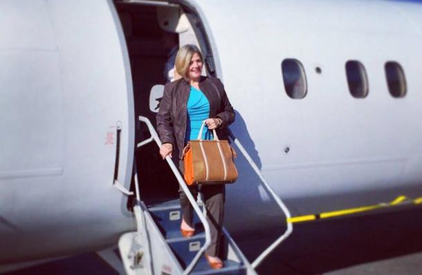 NDP Leader Andrea Horwath Arrives in Thunder Bay - NDP image.