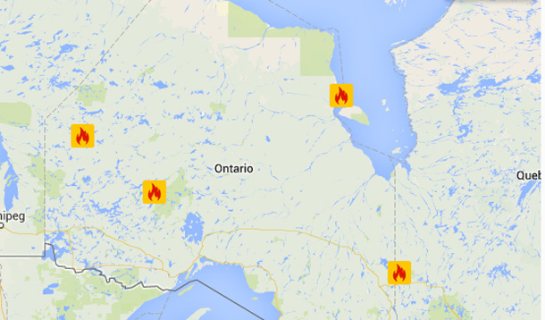 New Fires in Northern Ontario