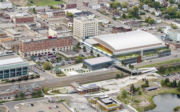 Aerial view of proposed Waterfront Event Centre