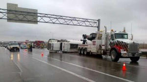 Wet conditions in Alberta are causing accidents. RCMP Image