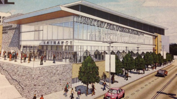 Proposed Thunder Bay Event Centre or Convention Centre as proposed by BBB Architects