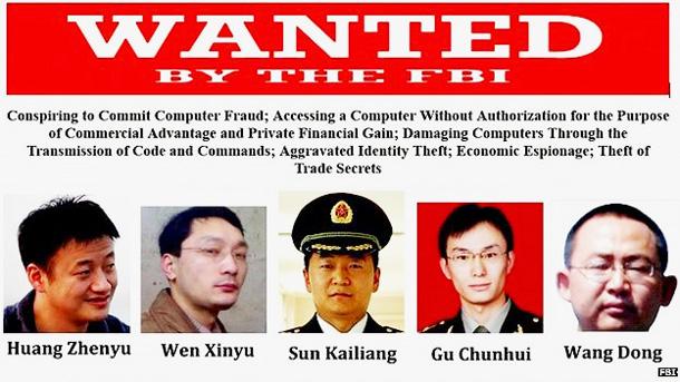 Os hackers da China são os mais procurados