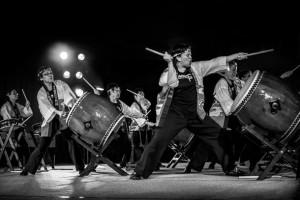Kaminari Wan Taiko Japanese Drummers — at FOLKLORE FESTIVAL. Jamie Bananish ©2014