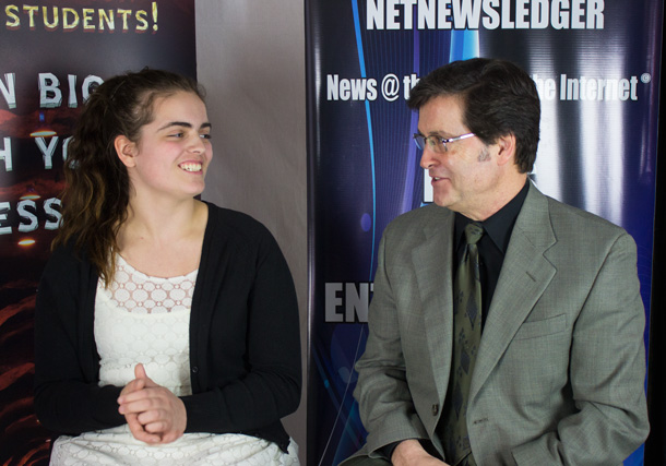 Enter the Den 2014 Finalist Meghan Mcguire with Frank Pullia talking about her great business idea.
